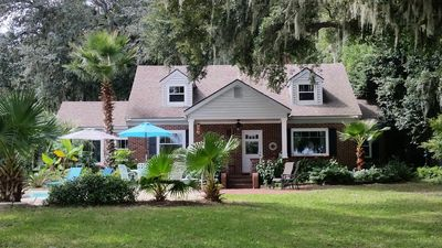Photo for ISLAND RIVERFRONT ESTATE HOME WITH DEEP WATER DOCK & INGROUND POOL