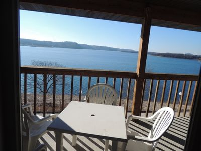 Photo for Pet Friendly Lakeside Condo Sleeps 4   LOW FALL & WINTER PRICES