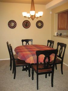 Large Dining Room sits 8 comfortably