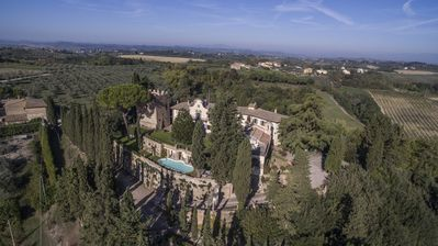 Photo for Castello di Cabbiavoli superb private villa rental WIFI, A/C  private pool