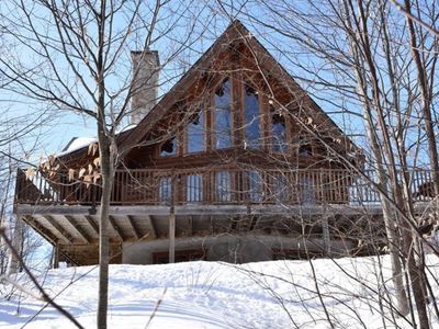 Photo for Le montagnard #057; Majestic log home in the wood and only 20 minutes from Mont-Tremblant