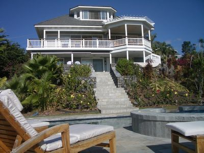 House view from the pool