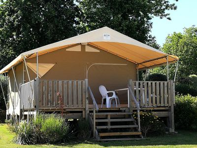 Photo for Camping Kersentic *** - Kabane on stilts 3 rooms 4 people