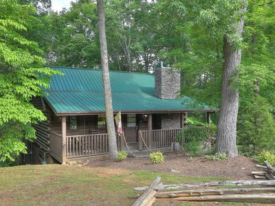 Photo for Two Bedroom Log Cabin with Private Pool!