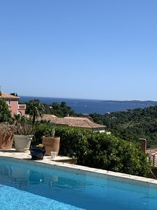 Photo for Superb sea view in ISSAMBRES, swimming pool, air conditioning, wifi, PRM, 154m2