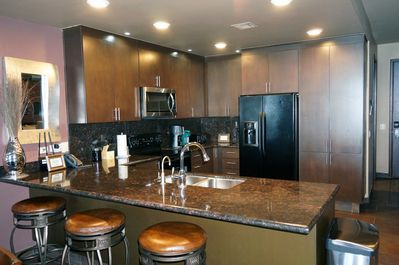Fully stocked kitchen with full size appliances