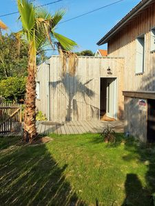 Photo for Wooden house in the center of Lacanau Océan 10 minutes walk from the beach
