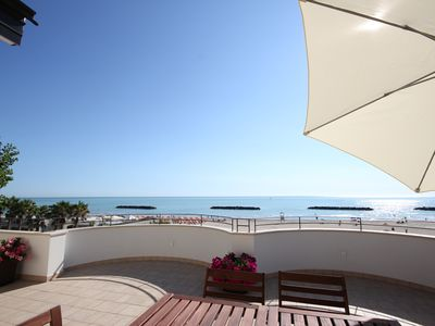 Photo for furnished apartment on the top floor overlooking the sea