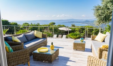 Photo for Delightful Villa, St Tropez Bay View, Heated Pool