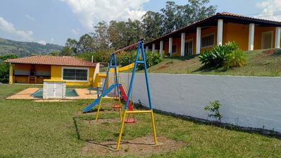 Photo for Beautiful farm: large house, barbecue, swimming pool, playground for children ..