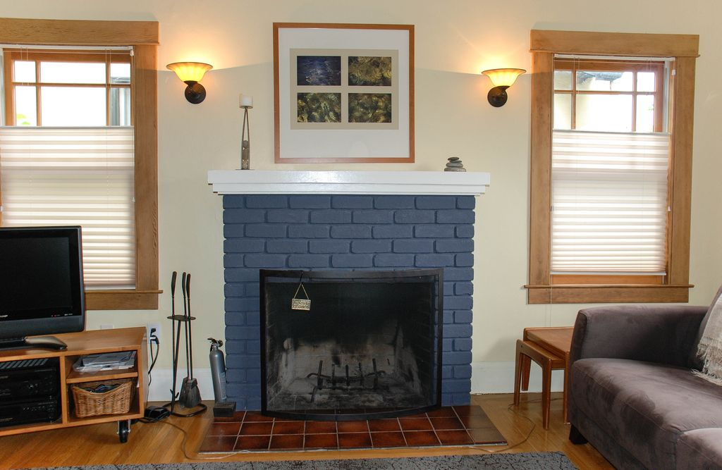 Fireplace Design east bay fireplace : Comfortable Albany Bungalow: Great Location In East Bay Of San ...
