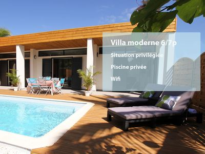 Photo for Villa **** with swimming pool 150m from the beach of Saline les bains