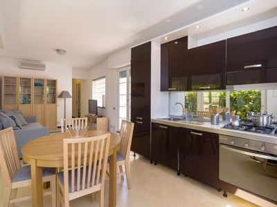 Photo for Apartment A1 - Sunny 95sqm Flat with Garden 100m from Sea
