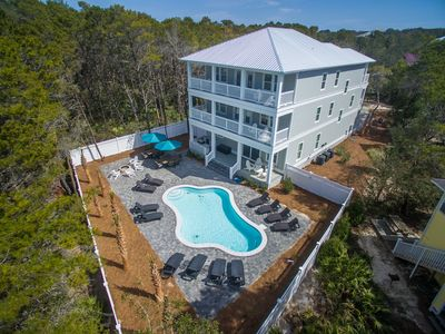 Photo for Large Rare Home -2 Blocks to Seaside- Heated Private Pool-