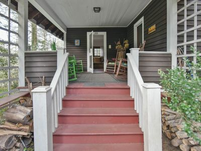 Photo for Large 100-year-old family cottage, claw-foot bathtub & lots of deck and porch