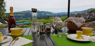 Photo for Apartment Tannenglück - fantastic panoramic view from your own terrace