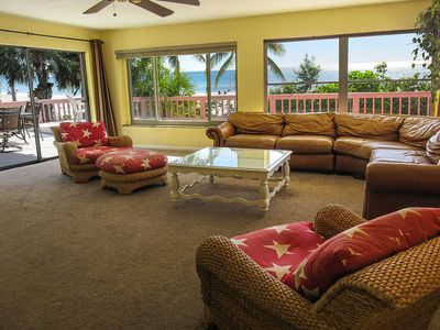 Photo for Gulf At Your Back Door!  Sunny 4B/3.5B Beachfront Bungalow! Perfect For Families!