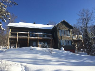 Photo for Huge Luxury Waterfront Cotage With 4 Bedrooms Near Tremblant