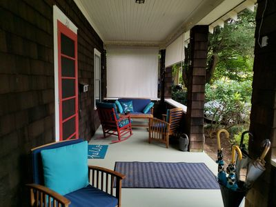 You'll love the spacious, classic rocking chair front porch.