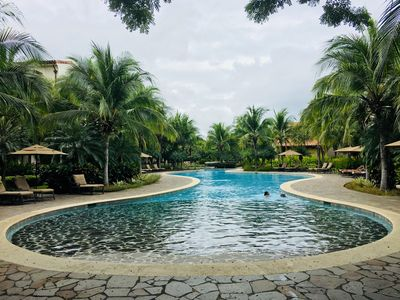 Pacifico Swimming Pools inside property