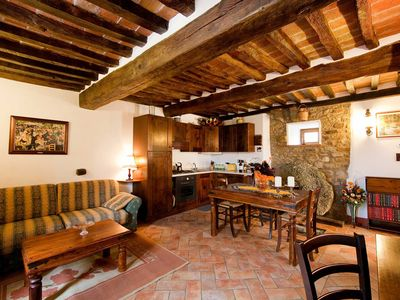 Photo for Delightful Old Mill 1 bedroom apartment with pool at Molino di Bordone, Cortona