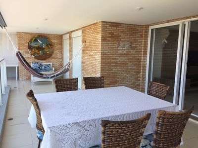 Photo for Beautiful Apartment 4 suites Gourmet Balcony and Vista Pro Mar (only 80m from the beach)