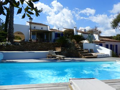 Photo for BEAUTIFUL FAMILY VILLA SEA VIEW AND HEATED SWIMMING POOL