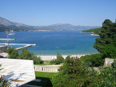 Photo for Two bedroom apartment with terrace and sea view Korčula