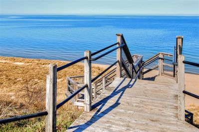 You can access Lake Michigan within steps!