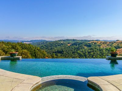 Photo for Luxury hilltop estate w/ private pool and hot tub, surrounded by wineries!