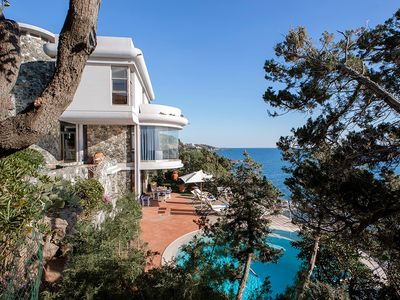 Photo for 6 bedroom Villa, sleeps 12 in Rosignano Solvay-Castiglioncello with Pool, Air Con and WiFi