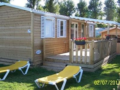Photo for MOBILE HOME GRANDCAMP-MAISY 4 pieces 6 to 8 people WITH INDOOR POOL,