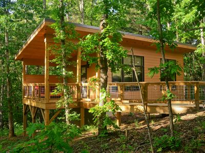 "Photo for Tiny ""Arrowhead"" cabin minutes from Asheville and Weaverville!"
