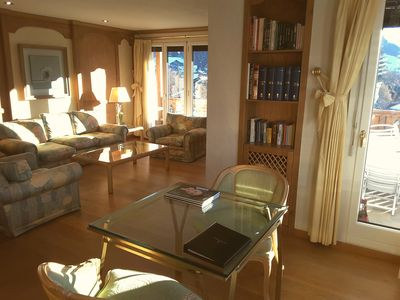 Photo for A stunning upper floor apartment in a luxury 5* hotel in Gstaad