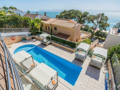 Photo for Luxury villa in Alcudia with private pool and 200 meters from the beach