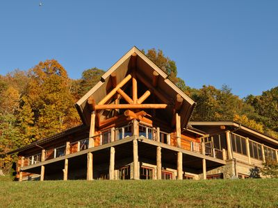Photo for Old Rag View Horse Farm with Log Lodge and Treehouse
