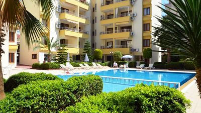 Photo for Cute apartment nearby the pool and beatiful garden