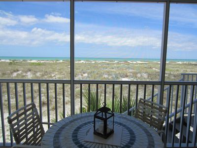 Photo for Enjoy an Unobstructed view of the Gulf from this Cheery 2 Bedrm Villa! B2913A