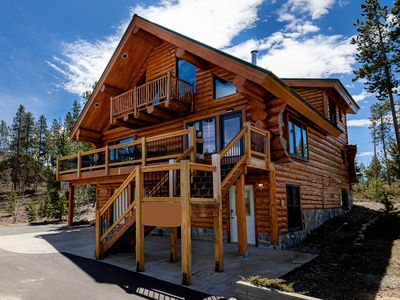 Photo for Fabulous Log Home - 2 Master Bedrooms!