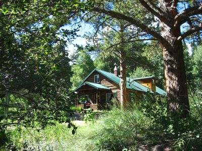Photo for Cascading Creek Log Cabin in the Rocky Mountain Wilderness