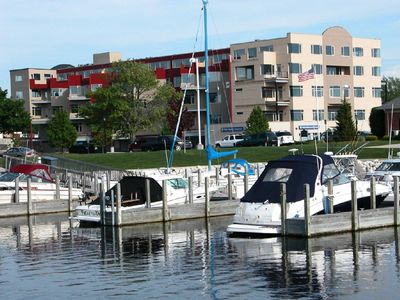Photo for LUXURY CONDO- Harbor View to Lake MI-  WIFI, Downtown, Indoor Pool & Hot Tub