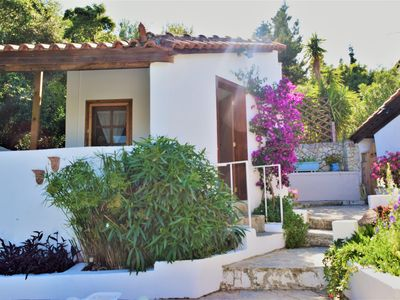 Photo for Voro Cottage, Lithakia Village, private plunge pool and panoramic sea views.