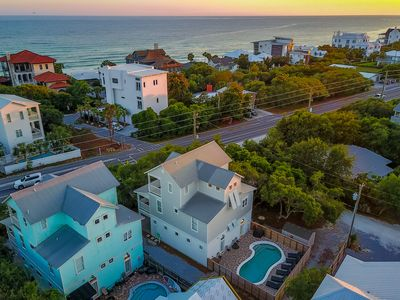 Photo for Gulf Views!  Private Heated Pool!  Steps from the Beach!