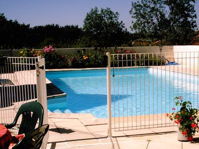 Photo for House quercy du15emes + souillarde piece voutee swimming pool private park