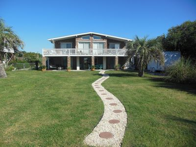 Photo for Beach House, Ocean 150ft, on Lake, Private Pool, 1.5 Acre