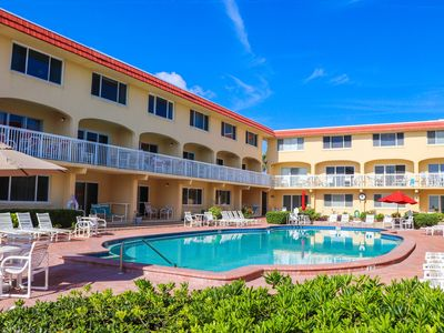 Photo for A102 Perfect 2/2 condo! Fantastic beachfront location just off Flagler Ave!