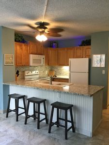 Updated kitchen with counter seating