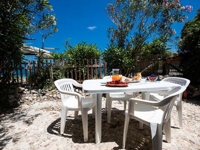 """Photo for Holiday House """"Zefiro"""" directly on the beach in Capo Saffron"""