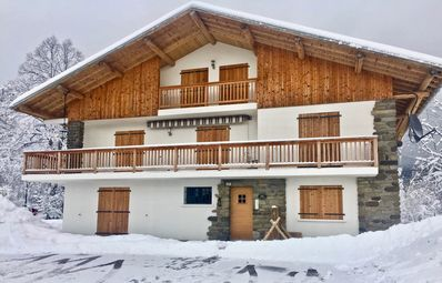 Photo for Apt 2 Chalet Cyclamen, Les Carroz D'Araches with Wifi, Sauna and Parking