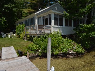 Photo for Charming 3 bedroom knotty pine cottage - Fireplace - Sandy beach - Sleeps 8